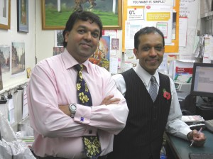 Mick and Kam Patel, Postmasters, Oundle Post Office