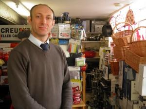Stuart Blow, Shopkeeper, Stu-Pots