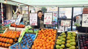 Mr Ackinson's stall has been selling fruit and vegetables at Oundle for 15 years.