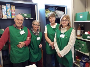 food bank John, Erica, Sue, Alison