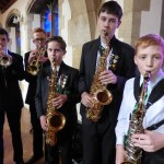 "The Catmose College Jazz Band from Oakham performed ""Inside Out"" by Michael Sweeney and ""Smooth"" by Santana"