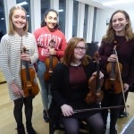 Soloists on violin from Oundle, Peterborough, Bourne and Spalding competed in the U18 qualifying class for Young Musician of the Year
