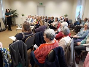 Naomi Murphy, Oundle WI president introduced the April meeting