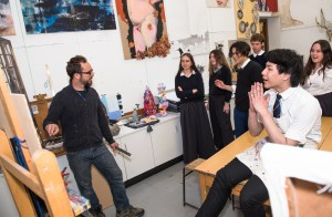 Nick Grove worked with pupils in the Oundle art studios