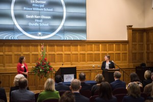 Oundle School Head, Sarah Kerr-Dineen and Prince William School Principal, Liz Dormor delivered a joint presentation