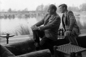Peter Scott with David Attenborough at Slimbridge in 1962