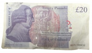 Oundle News confiscated this £20 counterfeit note