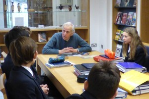 In 2016 Ioan Thomas returned to the classroom to talk about the war years.