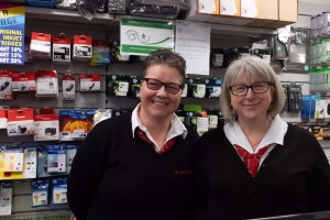Tracey and Julie at Colemans Stationers