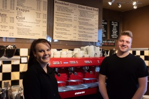 Amy and Tom at Beans Coffee Stop